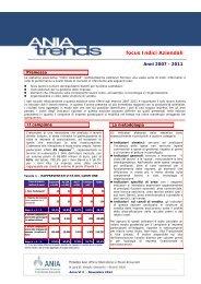 ANIA Trends Indici Aziendali 2012