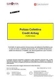nota informativa polizza collettiva credit airbag - Chiara Assicurazioni