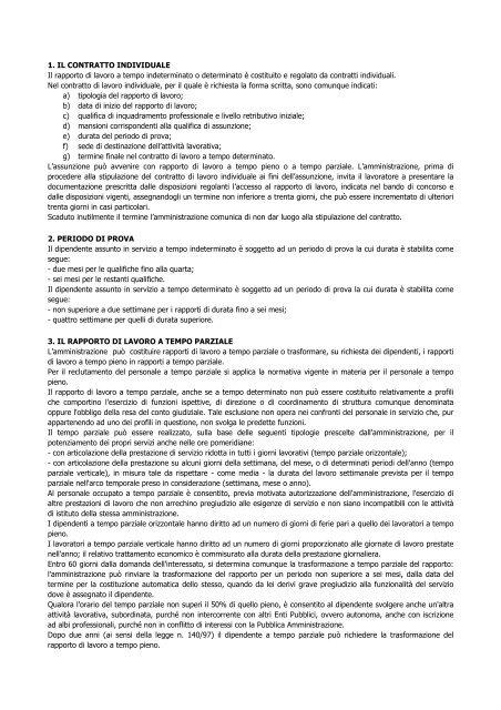 Contestazione Disciplinare 5 Giorni Lavorativi O Calendario.1 Il Contratto Individuale Il Rapporto Di Lavoro A Tempo