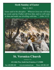 May 5 - St. Veronica Catholic Parish