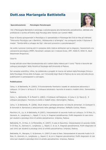 Dott.ssa Mariangela Battistella - Centro medico Hippocrates