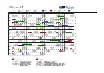 MDG Jahresplaner 2010