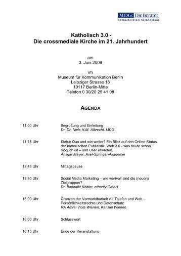 Katholisch 3.0 - Die crossmediale Kirche  im 21. Jahrhundert - MDG