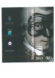 Stagione Concertistica e Teatrale 2013 - Comune di Pontinia