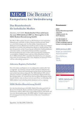 Das MDG Jahrbuch 2009