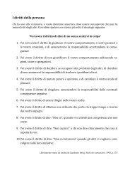 I diritti fondamentali dell'assertività - dott. Marco Vicentini