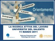 La ricerca attiva del lavoro - Laurea in Scienze della Comunicazione