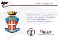 Sistemi d'allerta: ruolo, attività e casistica del ... - Azienda ULSS 18