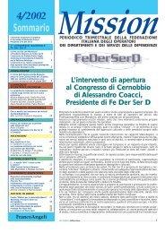 Sommario Mission - FeDerSerd