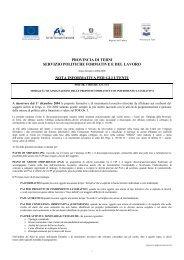 nota informativa sulle modalità di assegnazione ... - Provincia di Terni