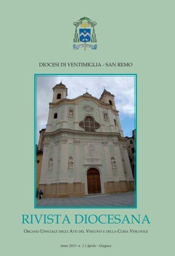 RIVISTA DIOCESANA - Diocesi di Ventimiglia