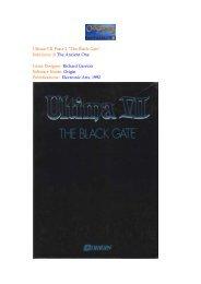 """Ultima VII Parte 1 """"The Black Gate"""" Soluzione di The Ancient One ..."""