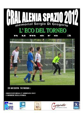 ECO del Torneo nr 3-2012 - CRAL - Alenia Spazio Torino