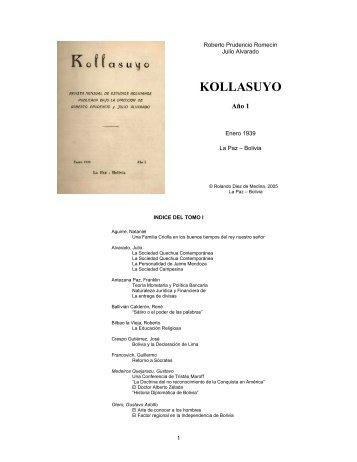 Revista Kollasuyo número 1 -L- 1939 – 1895kb - andes