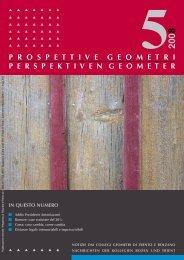 notiziario n.5.2008 - Collegio dei Geometri della provincia di Trento