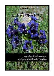 Fontana. - Comune di Andalo Valtellino