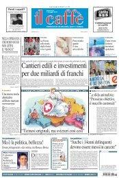Cantieri edili e investimenti per due miliardi di franchi