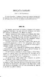 BRIGATA SASSARI - Cime e Trincee