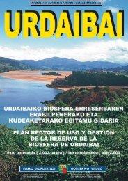 Urdaibaiko Biosfera-Erreserbaren erabilpenerako eta ...