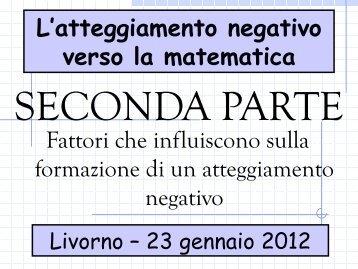 L'atteggiamento negativo verso la matematica
