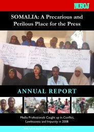 The report ' Somalia : a precarious and perilous place for press '