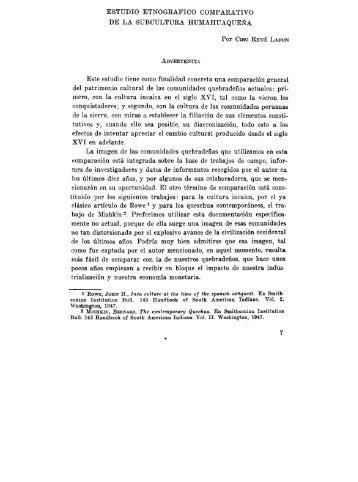 DE LA SUBCULTURA HUMAHUAQUENA Este estudio tiene como ...