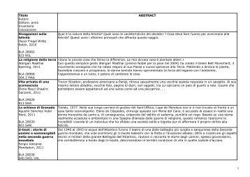 Bollettino novità settembre 2011 - ArchiWeb - Biblioteca digitale dell ...