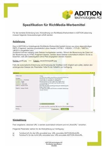 Spezifikation für RichMedia-Werbemittel