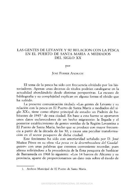 LAS GENTES DE LEVANTE Y SU RELACION CON LA PESCA EN ...