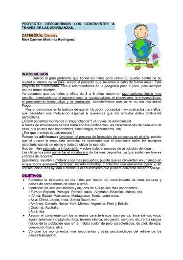 Ciencias. Mari Carmen Martínez Rodríguez I - Atención a la ...