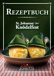 Rezepte Knödeltisch St. Johann - Kitzbüheler Alpen
