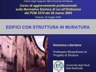 EDIFICI CON STRUTTURA IN MURATURA - CRIS