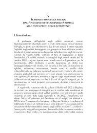 Cap V Il progetto Scuola Sicura dall indagine di ... - Regione Molise