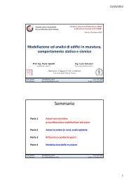 Modellazione ed analisi di edifici in muratura, comportamento ...