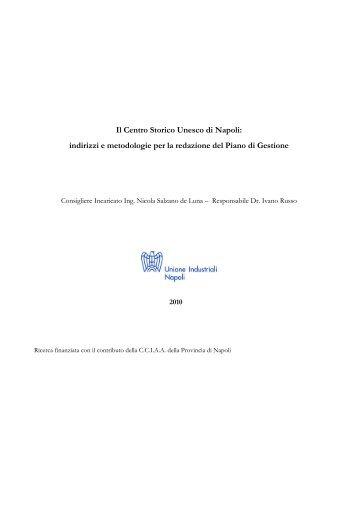 Il Centro Storico Unesco di Napoli: indirizzi e metodologie per la ...