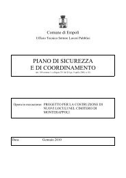 PIANO DI SICUREZZA E DI COORDINAMENTO - Comune di Empoli