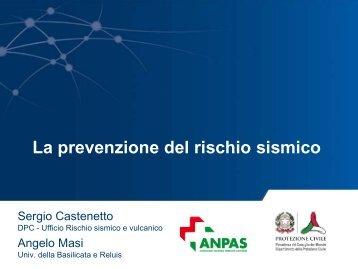 """""""La prevenzione del rischio sismico"""". - Dipartimento della Protezione ..."""