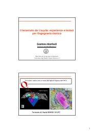 Il terremoto de L'aquila: esperienze e lezioni per l ... - Unsider