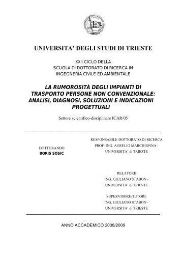 €€ UNIVERSITA' DEGLI STUDI DI TRIESTE - OpenstarTs ...