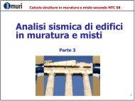 Calcolo strutture in muratura e miste secondo NTC 08