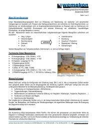 Kurzbeschreibung - wemakon Zeulenroda GmbH