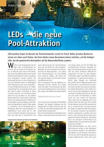 LEDs – die neue Pool-Attraktion - bei Weggler