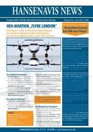 "HEH AVIATIoN ""FlybE loNDoN"" - Hansenavis Treuconsult AG"