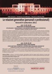 Ingresso libero (scarica la brochure dell'evento) - Lenares