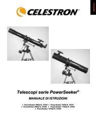 Telescopi serie PowerSeeker - Celestron