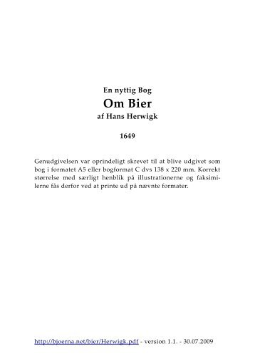 Hans Herwigk: En nyttig Bog om Bier - BA Forlag