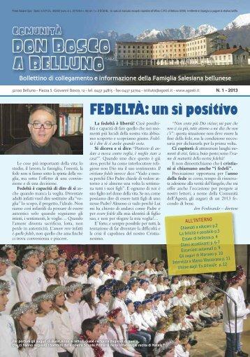 Bollettino dell'Istituto Agosti di Belluno: Gennaio ... - salesiani nord/est