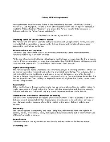 Agreement - Sourcing Office Affiliate (Executed)