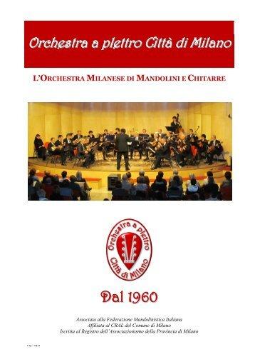 brochure di presentazione - Mandolini a Milano
