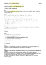modello statuti associazione